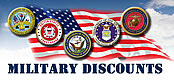 We Offer Discounts to Our Military